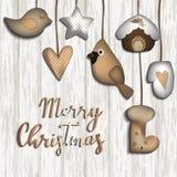 Fondo de la Navidad con los juguetes del fieltro libre illustration