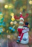 Fondo de la Navidad con los juguetes del ` s del Año Nuevo y colorido hermosos Fotografía de archivo