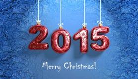 Fondo de la Navidad con los números 2015 Fotos de archivo