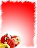 Fondo de la Navidad con los ornamentos Foto de archivo libre de regalías