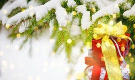 Fondo de la Navidad con los presentes Imagenes de archivo