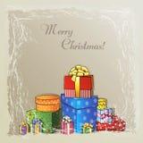 Fondo de la Navidad con los presentes Stock de ilustración