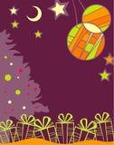 Fondo de la Navidad con los regalos stock de ilustración