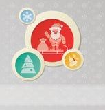 Fondo de la Navidad con Papá Noel Foto de archivo