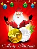 Fondo de la Navidad con Papá Noel stock de ilustración