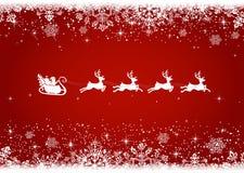 Fondo de la Navidad con santa Fotos de archivo