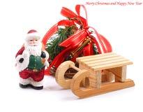 Fondo de la Navidad con Santa Claus. Imagen de archivo libre de regalías