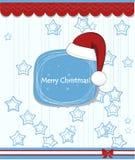Fondo de la Navidad con tipografía Fotografía de archivo