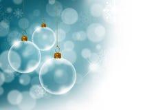 Fondo de la Navidad con transparente Fotos de archivo libres de regalías