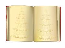Fondo de la Navidad con un libro agradable de la vendimia Imágenes de archivo libres de regalías