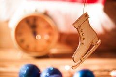 Fondo de la Navidad de la foto con las luces del color Foto de archivo