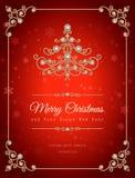 Fondo de la Navidad de la joyería Fotografía de archivo