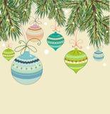 Fondo de la Navidad de la vendimia Imagenes de archivo