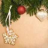 Fondo de la Navidad de la vendimia Fotos de archivo libres de regalías