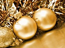 Fondo de la Navidad de las bolas imagen de archivo libre de regalías
