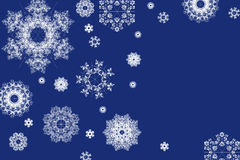Fondo de la Navidad de los copos de nieve Fotos de archivo libres de regalías