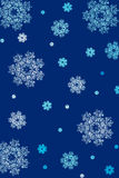 Fondo de la Navidad de los copos de nieve Imagen de archivo