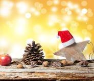 Fondo de la Navidad, decoración de la Navidad Fotografía de archivo libre de regalías