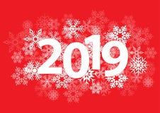 fondo de la Navidad del Año Nuevo 2019 Foto de archivo