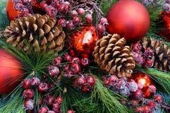 Fondo de la Navidad del abeto adornado Imagen de archivo libre de regalías