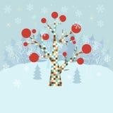 Fondo de la Navidad del invierno Imagenes de archivo