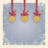 Fondo de la Navidad/del invierno - alarmas de cascabeleo. Fotografía de archivo