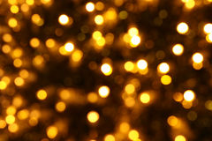 Fondo de la Navidad del oro Imagenes de archivo