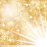 Fondo de la Navidad del oro ilustración del vector