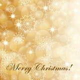 Fondo de la Navidad del oro stock de ilustración