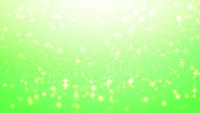 Fondo de la Navidad del oro, resplandor de la estrella en fondo verde con BO Foto de archivo libre de regalías