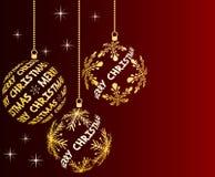 Fondo de la Navidad del rojo de vino Imagen de archivo