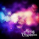 Fondo de la Navidad del vector Bola de la Navidad Contexto retro Azul stock de ilustración