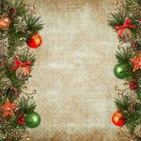 Fondo de la Navidad del vintage Imágenes de archivo libres de regalías