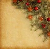 Fondo de la Navidad del vintage. Imagenes de archivo