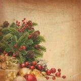 Fondo de la Navidad del vintage Imagen de archivo libre de regalías