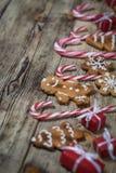 Fondo de la Navidad en los tableros de madera Imagen de archivo libre de regalías