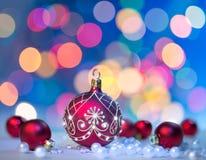 Fondo de la Navidad, espacio para su texto Imagen de archivo libre de regalías
