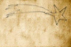 Fondo de la Navidad, estrella del pergamino de Bethlehem Imagenes de archivo