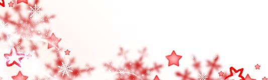 Fondo de la Navidad, estrellas rojas y cristales de la nieve libre illustration