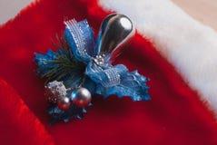 Fondo de la Navidad, juguete, abrigo de la hoja, Fotos de archivo