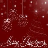 Fondo de la Navidad de las bolas transparentes, árboles de navidad Foto de archivo