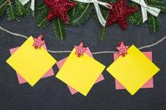 Fondo de la Navidad negra o del Año Nuevo Imagen de archivo