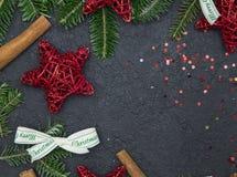 Fondo de la Navidad negra o del Año Nuevo Foto de archivo