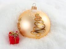 Fondo de la Navidad Nevado Fotografía de archivo