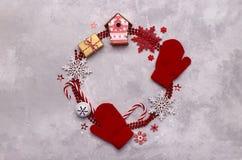 Fondo de la Navidad o del Año Nuevo Imágenes de archivo libres de regalías