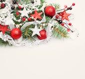 Fondo de la Navidad o del Año Nuevo con el espacio de la copia Fotografía de archivo libre de regalías