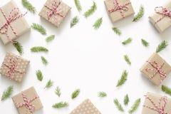 Fondo de la Navidad o del Año Nuevo con el espacio en blanco para un texto Imagen de archivo