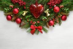 Fondo de la Navidad o del Año Nuevo con un espacio para un texto Imagenes de archivo