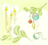 Fondo de la Navidad para el diseño Fotos de archivo libres de regalías