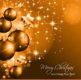 ¡Fondo de la Navidad para los saludos! Foto de archivo